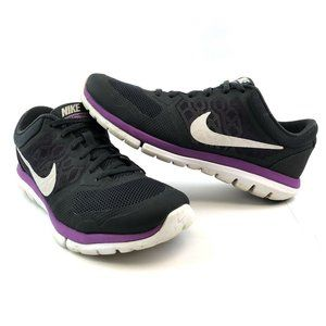 Nike Flex Womens Size 7.5 Black Running Shoes